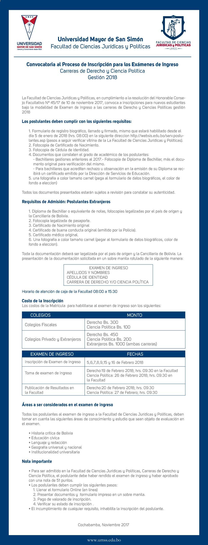 Examen de Ingreso   Universidad Mayor de San Simon