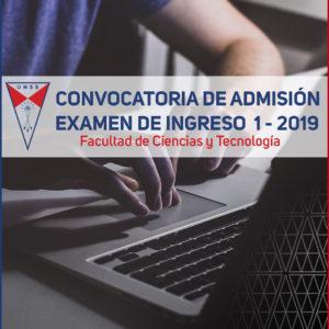 6e842e9a70 Convocatoria Admisión Gestión I 2019 – Facultad de Ciencias y Tecnología